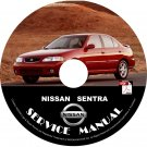 2000 00 Nissan Sentra Service Repair Shop Manual on CD SE XE GXE SER Workshop