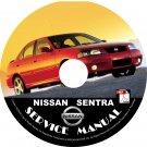 2003 Nissan Sentra Factory Service Repair Shop Manual on CD XE GXE SER Spec V CA Workshop