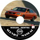 2005 Nissan Sentra Factory Service Repair Shop Manual on CD 1.8 1.8S SE-R Spec V 05 Workshop