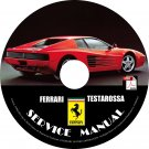 1991 Ferrari Testarossa Factory Service Repair Shop Manual on CD Fix Repair Rebuild Workshop Guide