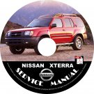01 2001 Nissan XTERRA Factory OEM Service Repair Shop Manual on CD Repair Rebuild Fix 01 Workshop