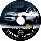 02 2002 Nissan XTERRA Factory OEM Service Repair Shop Manual on CD Repair Rebuild Fix 02 Workshop