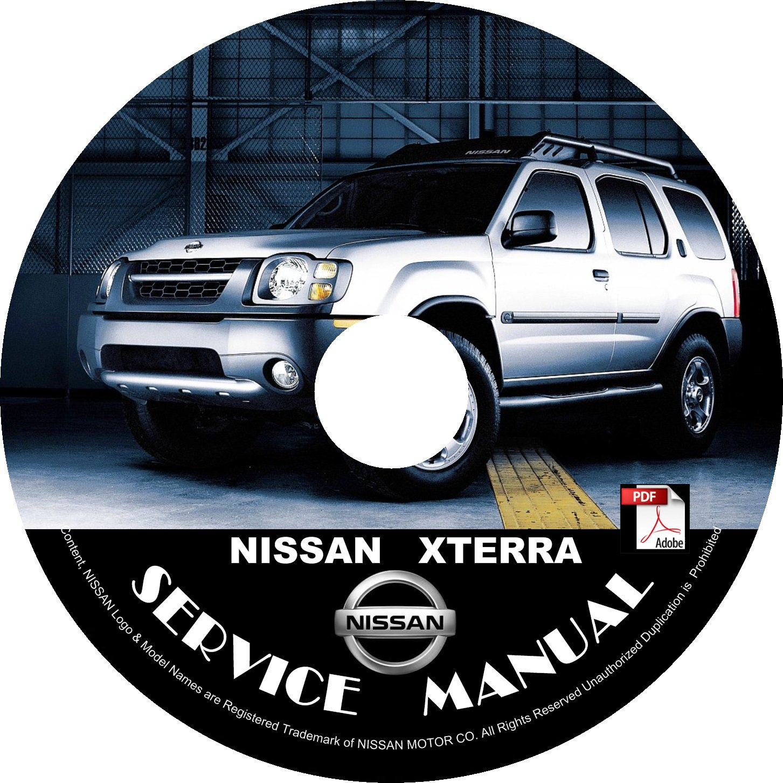 03 2003 Nissan XTERRA Factory OEM Service Repair Shop Manual on CD Repair Rebuild Fix 03 Workshop