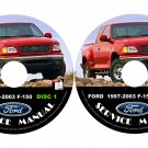 1998 Ford F150 F-150 Factory Service Repair Shop Manual on CD Fix Repair Rebuild 98 Workshop Guide