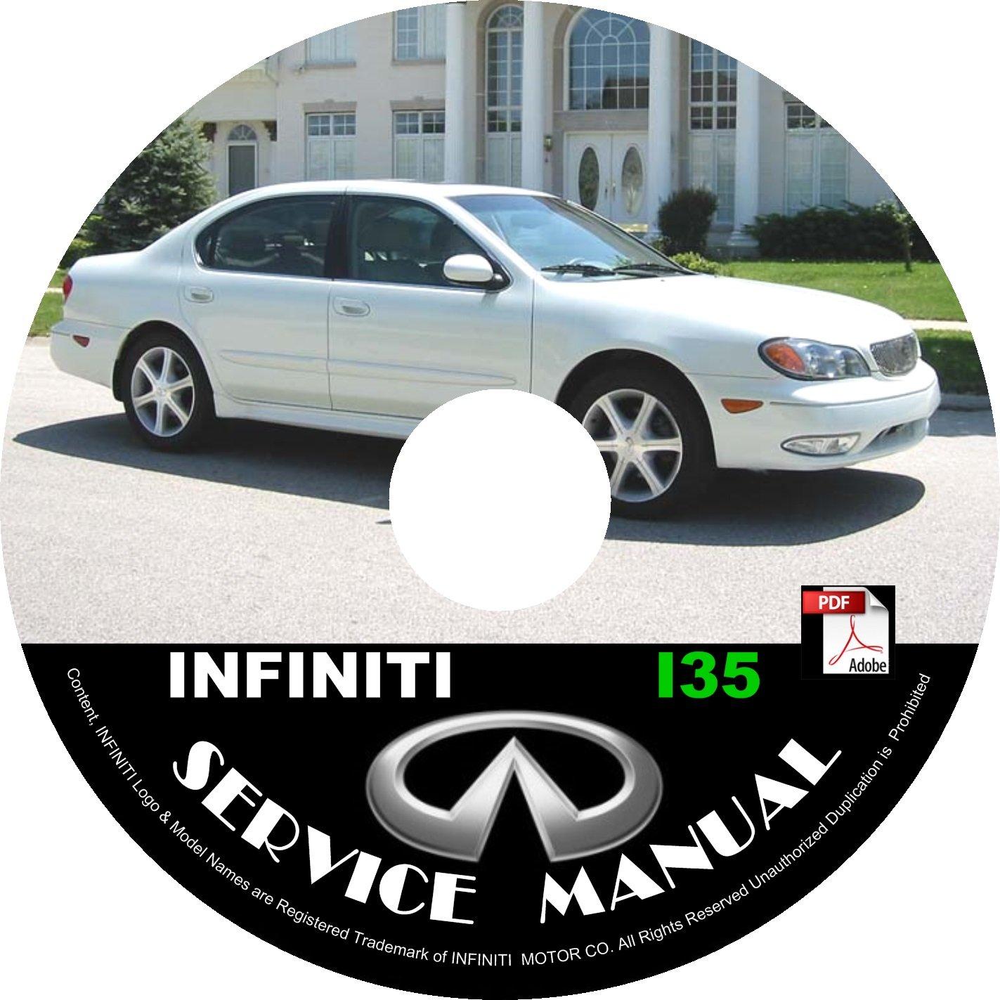 2003 Infiniti I35 Factory OEM Service Repair Shop Manual on CD Fix Repair Rebuild '03 Workshop Guide