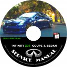 2004.5 Infiniti G35 Coupe & Sedan Factory Service Repair Shop Manual on CD Mid-Year 2004 Workshop