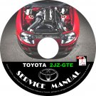 TOYOTA 2JZGTE Engine Service Repair Workshop Manual on CD Supra Soarer Aristo Swap Fix Rebuilt