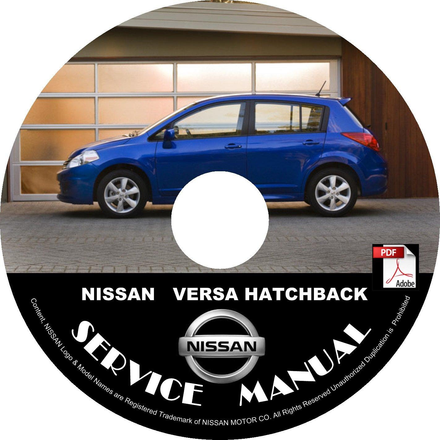 2012 Nissan Versa Hatchback Service Repair Shop Manual on CD