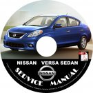 2012 Nissan Versa Sedan Service Repair Shop Manual on CD