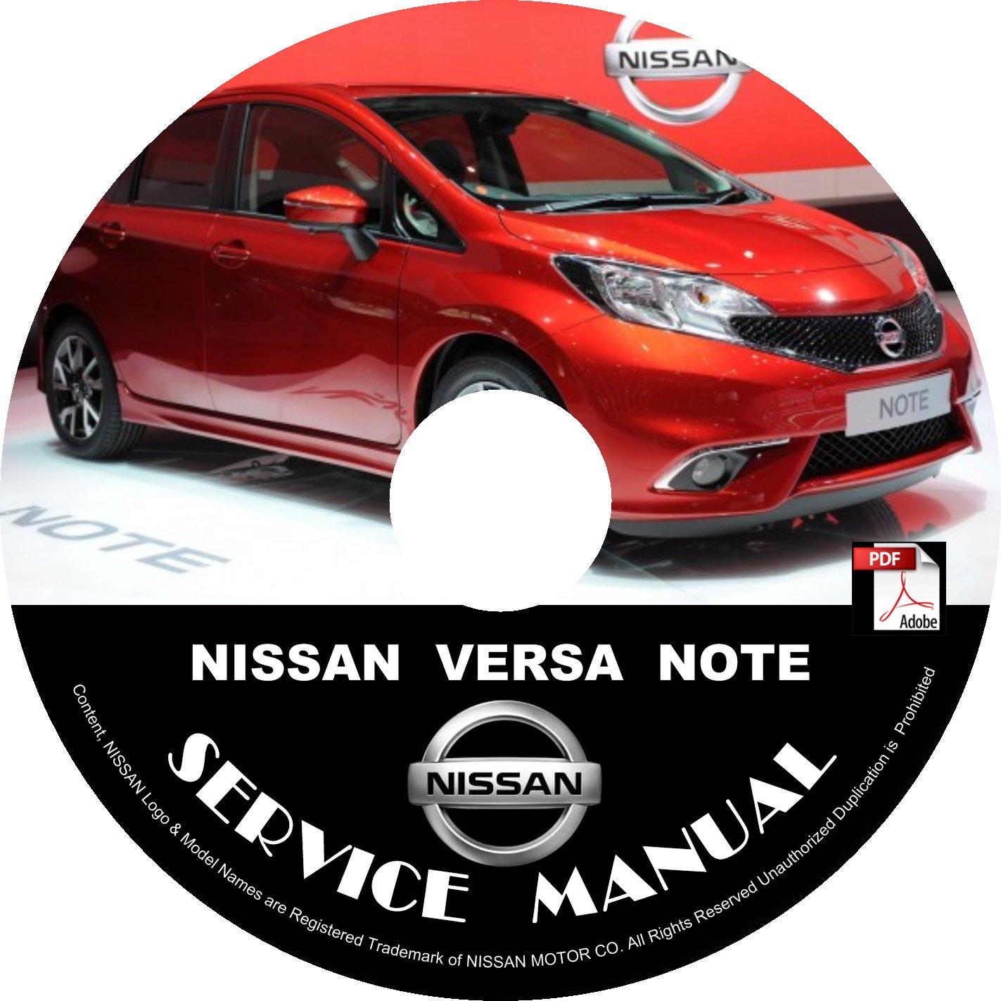 2016 Nissan Versa Note Service Repair Shop Manual on CD