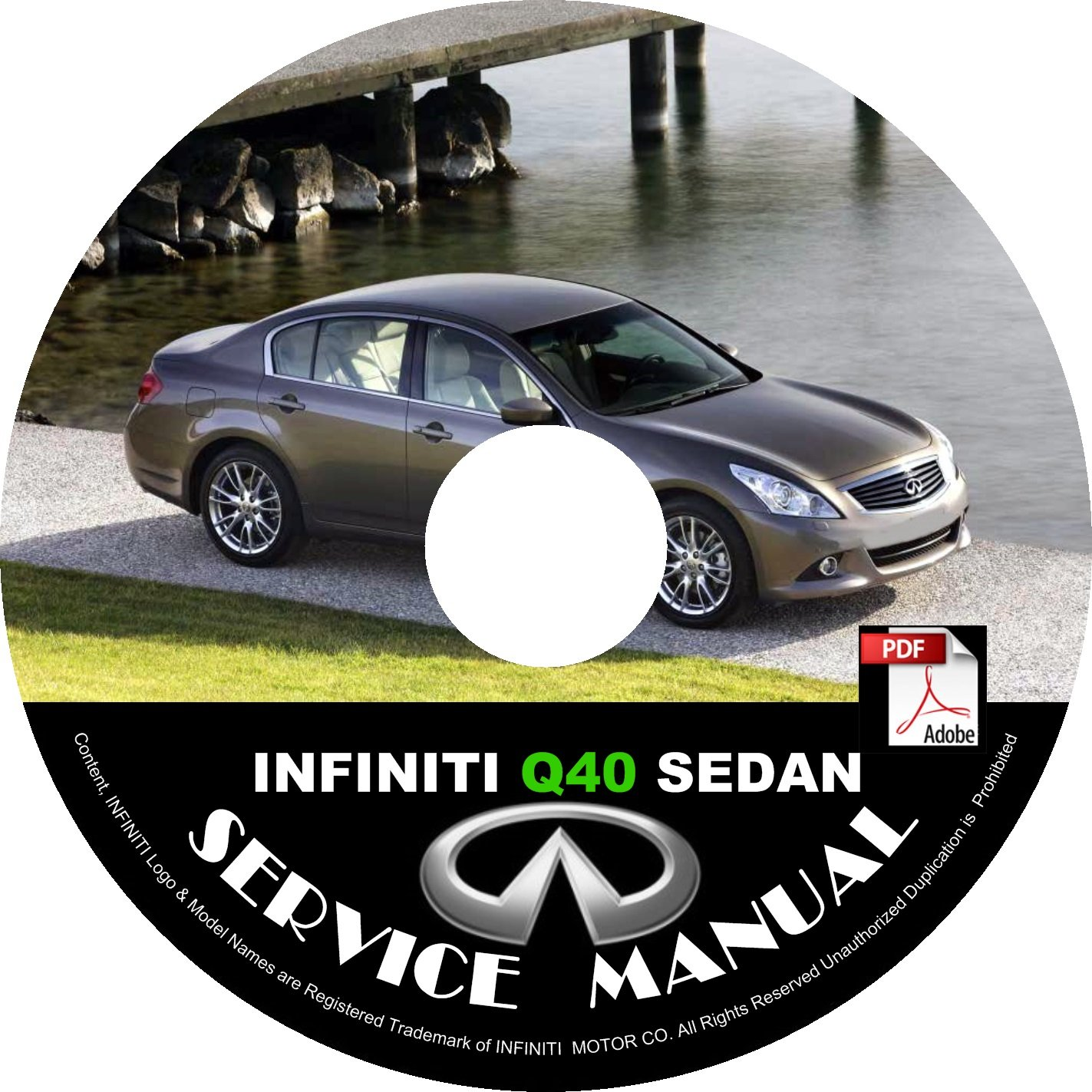 2015 Infiniti Q40 Sedan Service Repair Shop Manual on CD