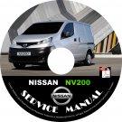2014 Nissan NV 200 CARGO Factory Service Repair Shop Manual on CD Fix Repair Rebuild NV200 Workshop