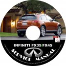 2003 Infiniti FX35-FX45 Factory Service Repair Shop Manual on CD Fix Repair Rebuild 03 Workshop