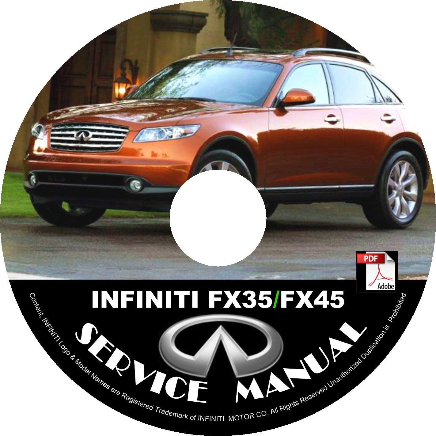 2007 Infiniti FX35-FX45 Factory Service Repair Shop Manual on CD Fix Repair Rebuild 07 Workshop