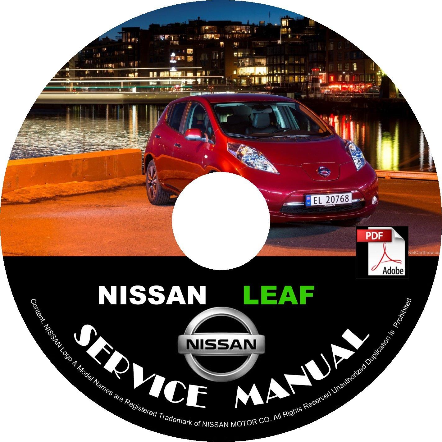 2013 Nissan Leaf Factory Service Repair Shop Manual on CD Fix Repair Rebuild Workshop Guide
