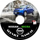 2016 Nissan Micra Factory Service Repair Shop Manual on CD Fix Repair Rebuild Workshop Guide