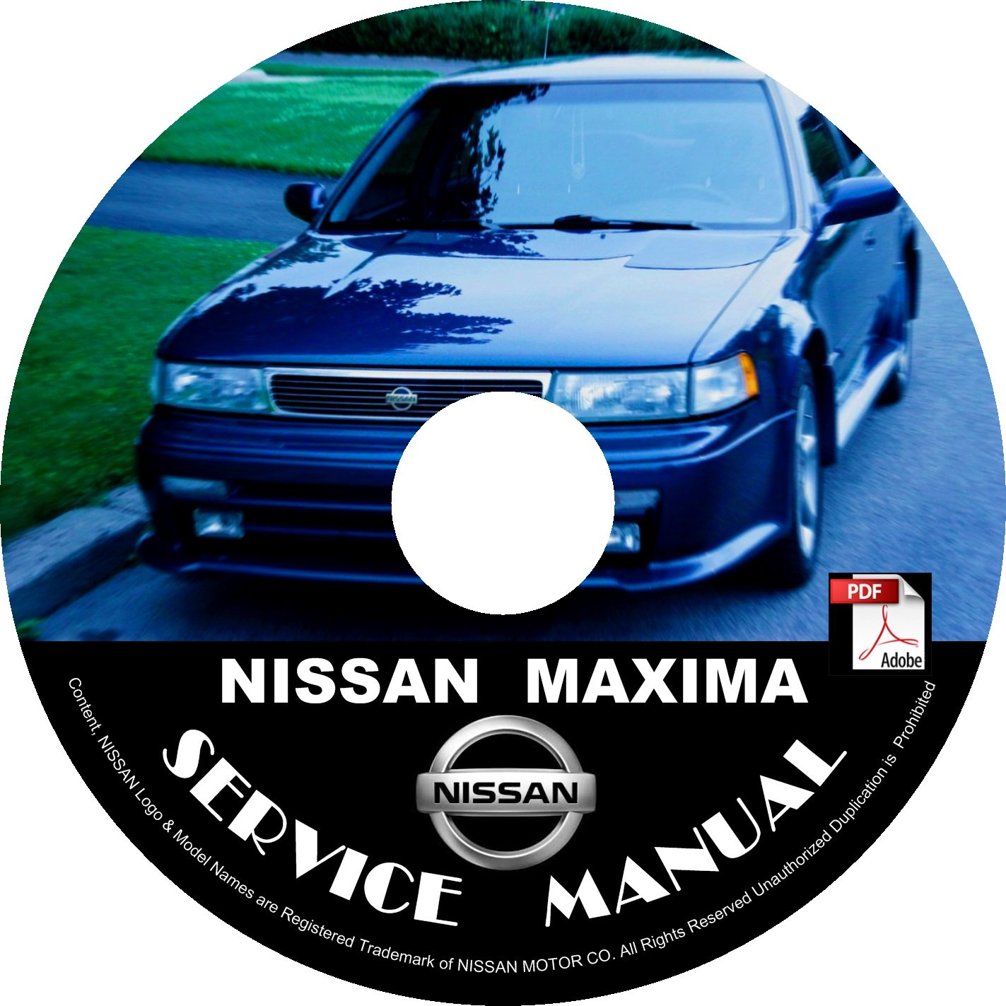 1991 Nissan Maxima Service Repair Shop Manual on CD Fix Repair Rebuild '91 Workshop Guide