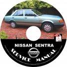 1989 Nissan Sentra Service Repair Shop Manual on CD Fix Repair Rebuild '89 Workshop Guide