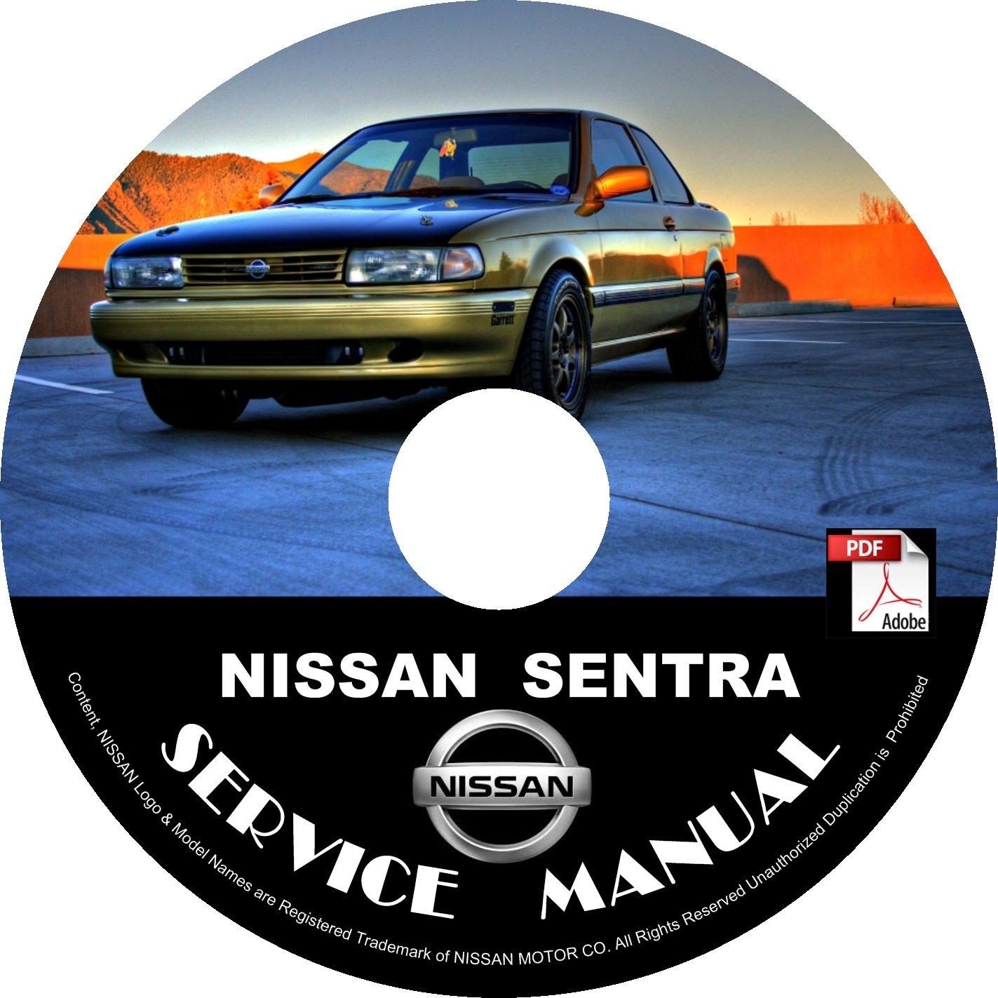 1991 Nissan Sentra Service Repair Shop Manual on CD Fix Repair Rebuild '91 Workshop Guide