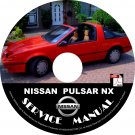 1989 Nissan Pulsar NX Service Repair Shop Manual on CD Fix Repair Rebuild '89 Workshop Guide