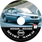 2000.5 (mid-year) Nissan Maxima Service Repair Shop Manual on CD Fix Repair Rebuild 00 Workshop