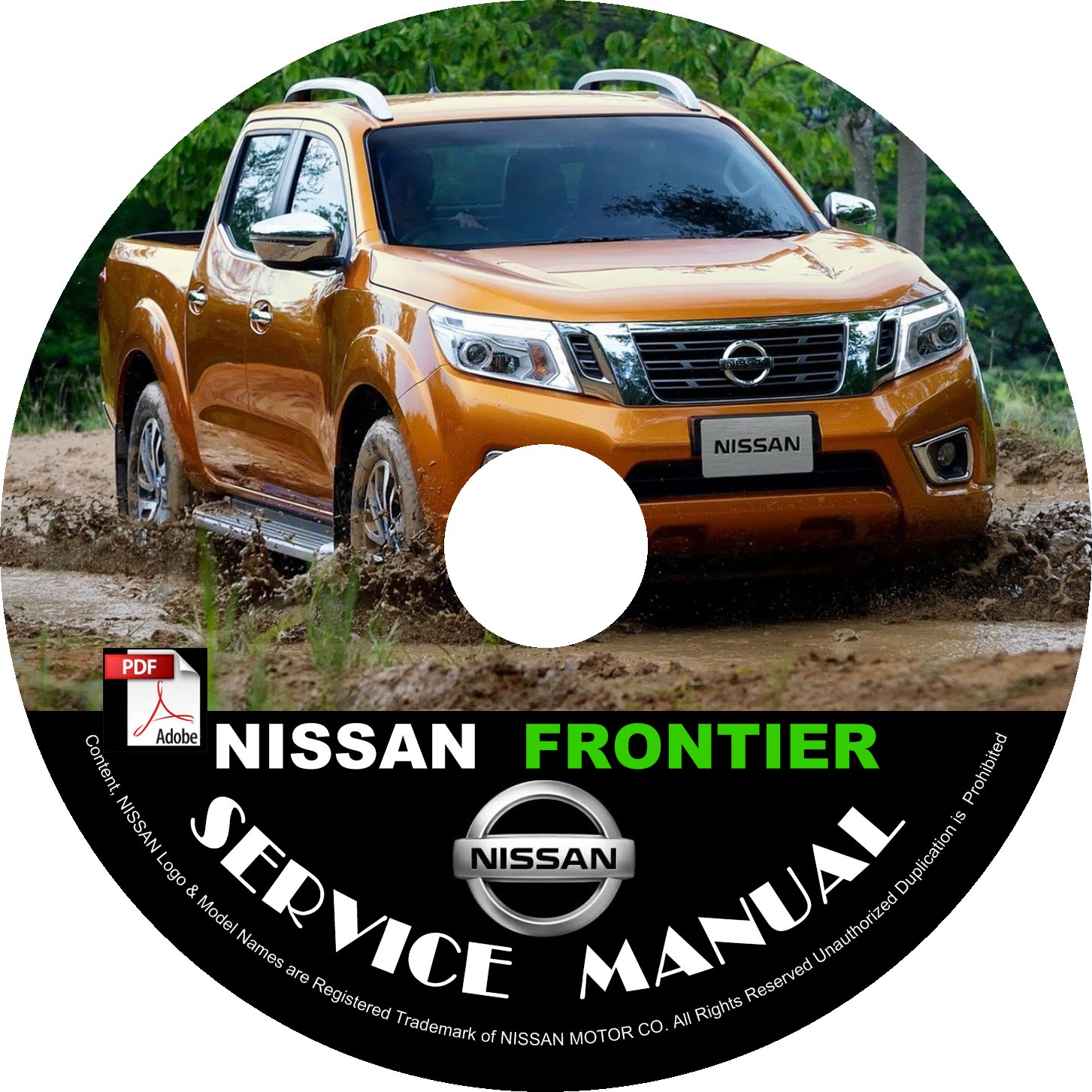 2017 Nissan Frontier Service Repair Shop Manual on CD Fix Repair Rebuild Workshop