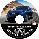 2009 Infiniti FX35-FX50 Factory Service Repair Shop Manual on CD Fix Repair Rebuild 09 Workshop