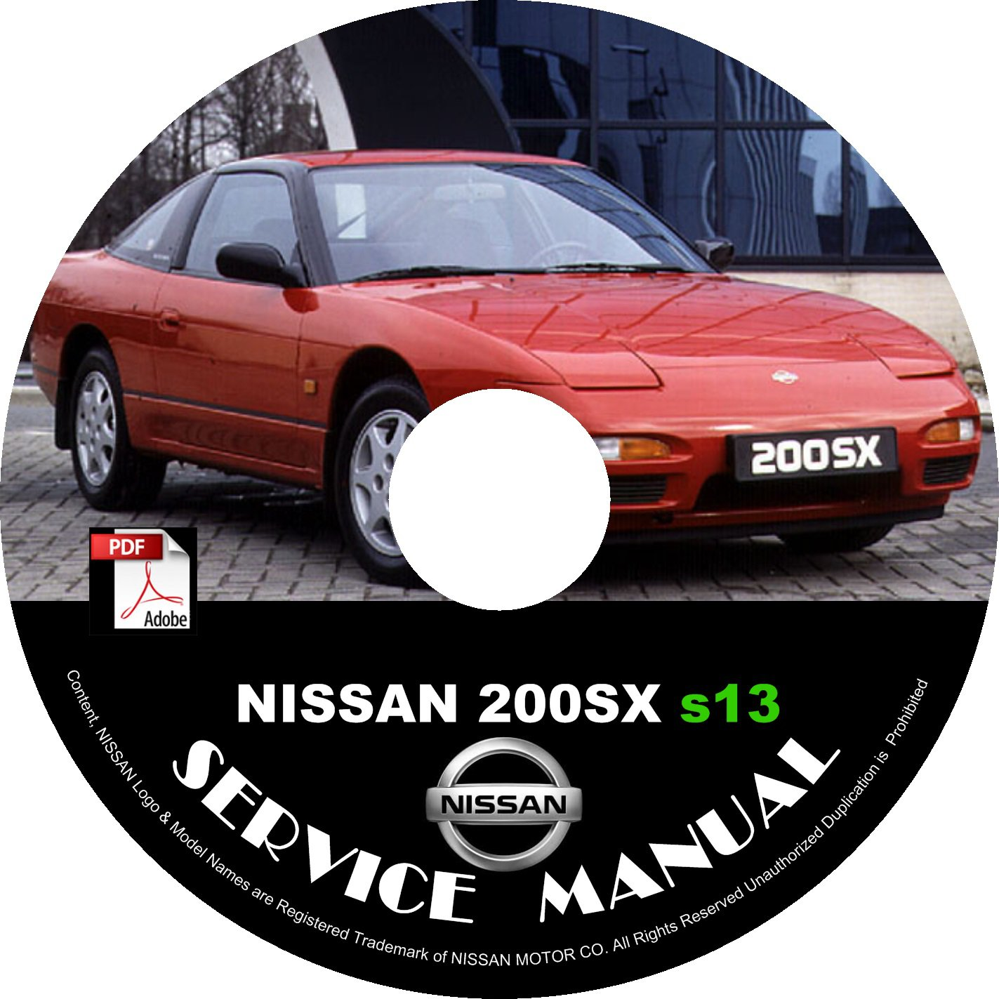 1989 Nissan 200sx s13 Factory Service Repair Shop Manual on CD Fix Repair Rebuild 89 Workshop Guide
