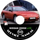 1989 Nissan 200sx s13 Factory Service Repair Shop Manual on CD Fix Repair Rebuild 89 Workshop Guide