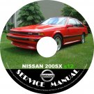 1986 Nissan 200sx s12 Factory Service Repair Shop Manual on CD Fix Repair Rebuild 86 Workshop Guide