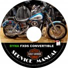 1999 Harley Davidson Dyna FXDS Convertible Service Repair Shop Manual on CD Fix Rebuild 99 Workshop