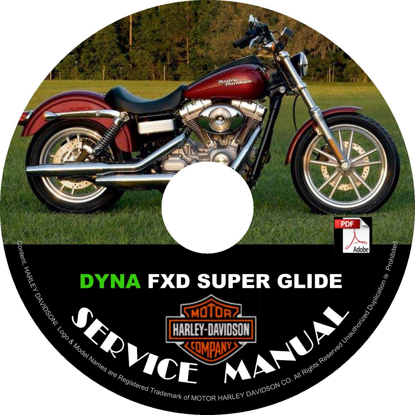 2002 Harley Davidson Dyna FXD Super Glide Service Repair Shop Manual on CD Fix Rebuild '02 Workshop