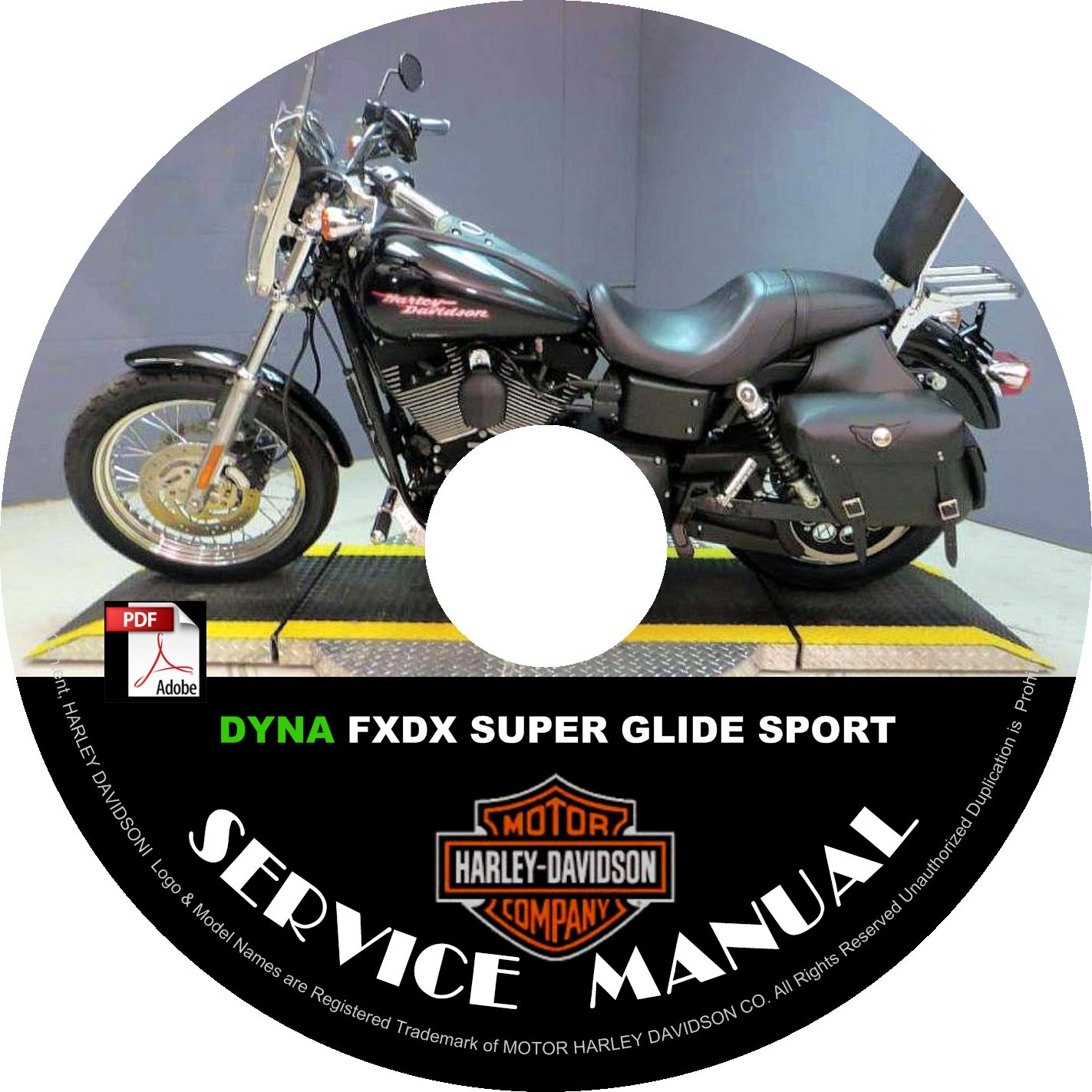 2001 Harley Davidson Dyna FXDX Super Glide Sport Service Repair Shop Manual on CD Fix Build Workshop