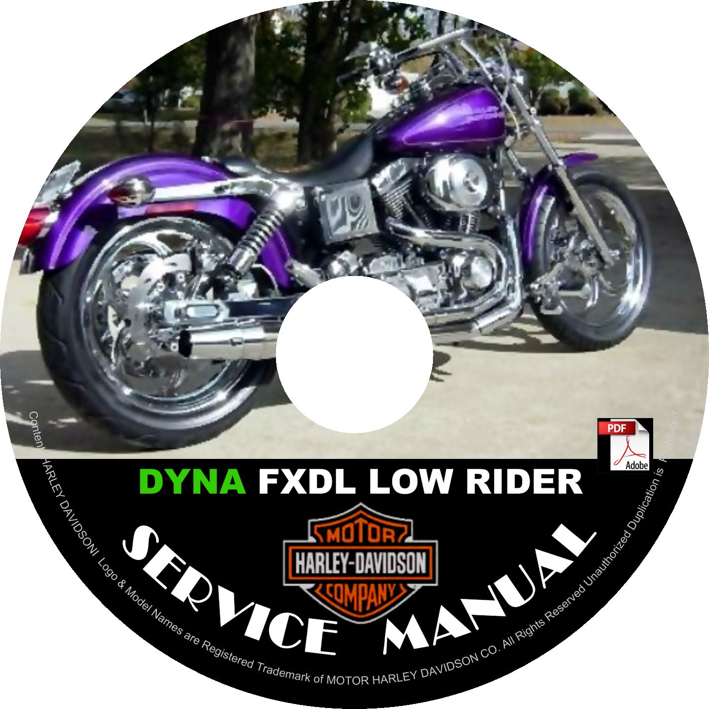 1999 Harley Davidson FXDL Dyna Low Rider Service Repair Shop Manual on CD Fix Rebuild '99 Workshop