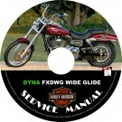 1999 Harley Davidson DYNA FXDWG Wide Glide Service Repair Shop Manual on CD '99 Fix Rebuild Workshop