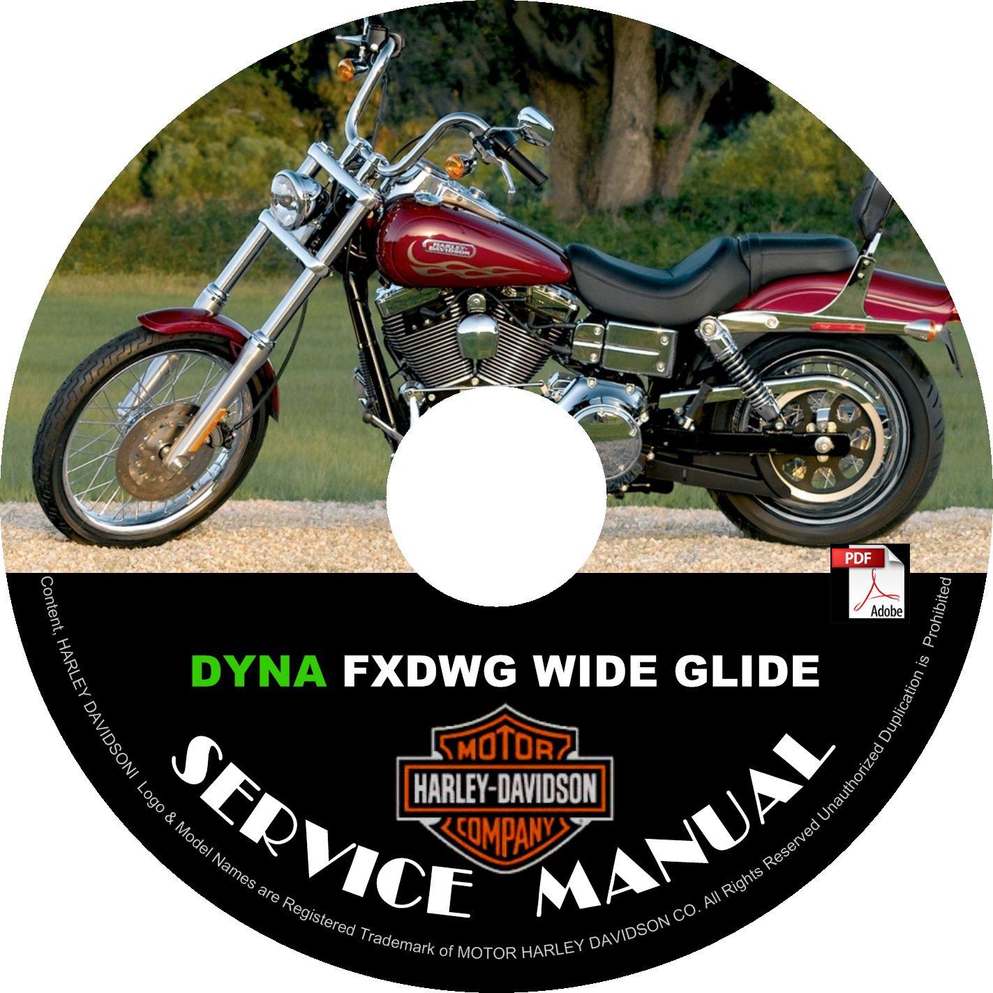 2005 Harley Davidson DYNA FXDWG Wide Glide Service Repair Shop Manual on CD '05 Fix Rebuild Workshop