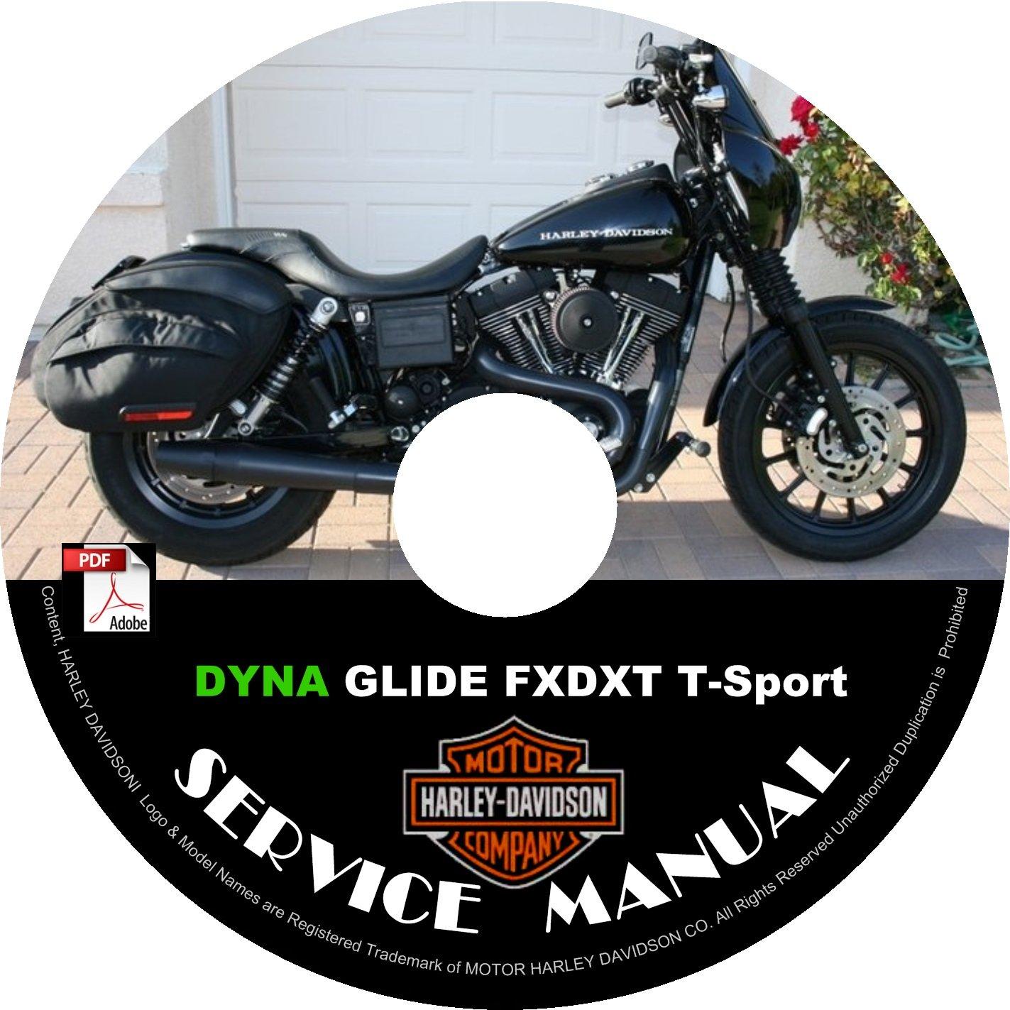 2004 Harley Davidson DYNA GLIDE FXDXT T-Sport Service Repair Shop Manual on CD Fix Rebuild Workshop