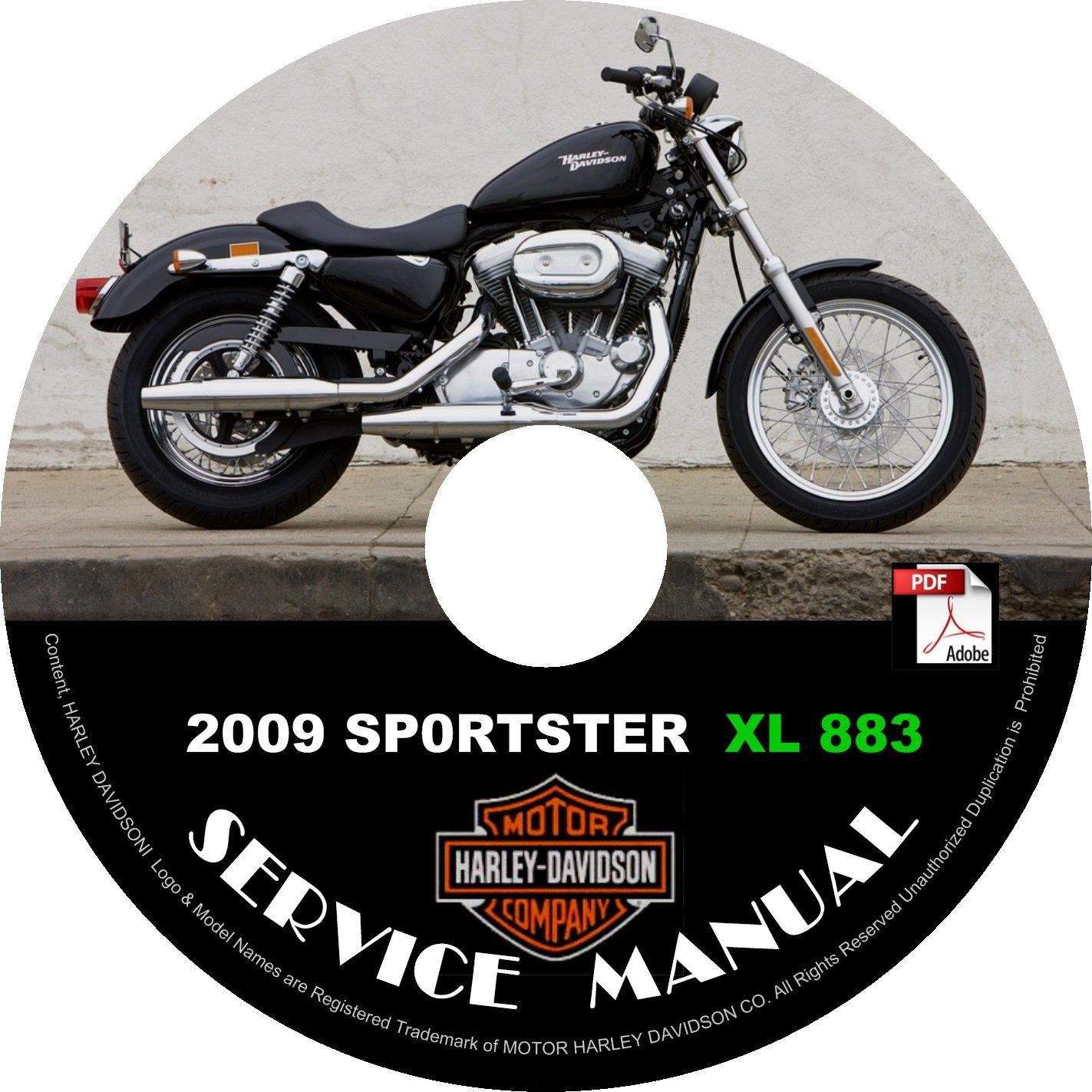 2009 Harley Davidson SPORTSTER XL 883 Service Repair Shop Manual on CD FiX Rebuild '09 Workshop
