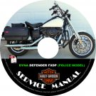 2004 Harley Davidson DYNA DEFENDER FXDP POLICE Service Repair Shop Manual on CD Fix Rebuild Workshop
