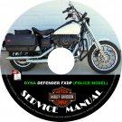 2003 Harley Davidson DYNA DEFENDER FXDP POLICE Service Repair Shop Manual on CD Fix Rebuild Workshop
