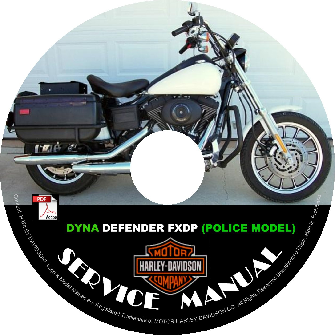 1999 Harley Davidson DYNA DEFENDER FXDP POLICE Service Repair Shop Manual on CD Fix Rebuild Workshop