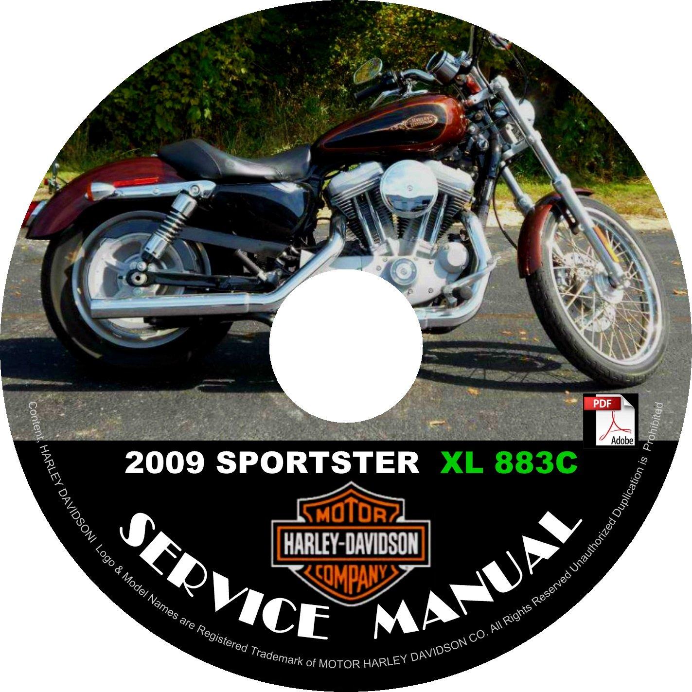 2009 Harley Davidson SPORTSTER XL 883C Service Repair Shop Manual on CD FiX Rebuild '09 Workshop