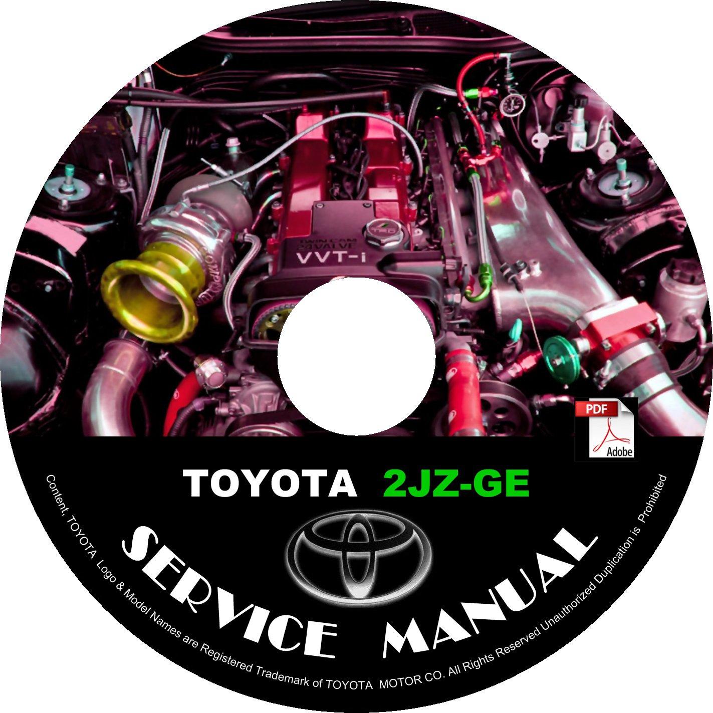 TOYOTA Engine 2JZ-GE Service Repair Shop Manual on CD Fix Repair Rebuild 2JZGE Workshop