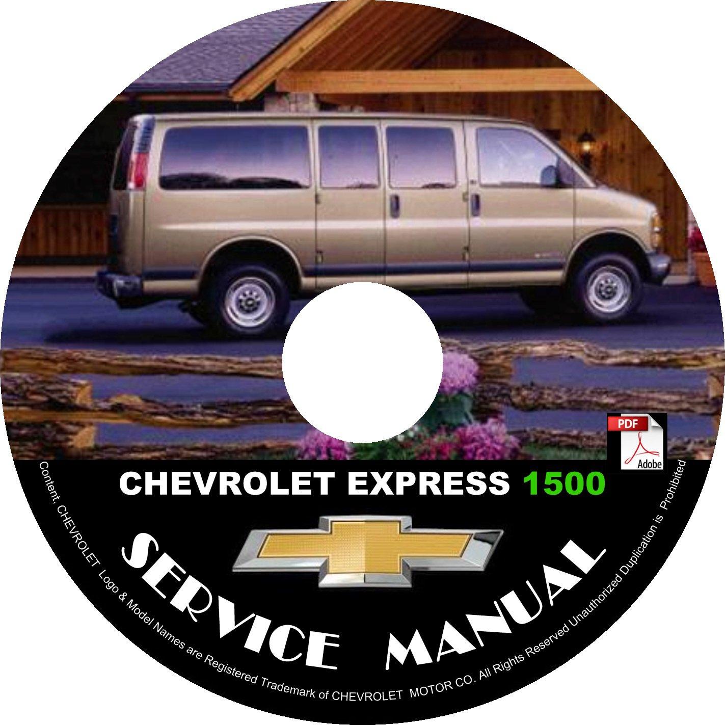 2002 Chevrolet Express 1500 G1500 Service Repair Shop Manual on CD Fix Repair Rebuild Workshop Guide