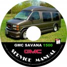 1998 GMC Savana 1500 G1500 Service Repair Shop Manual on CD 98 Fix Repair Rebuild Workshop Guide