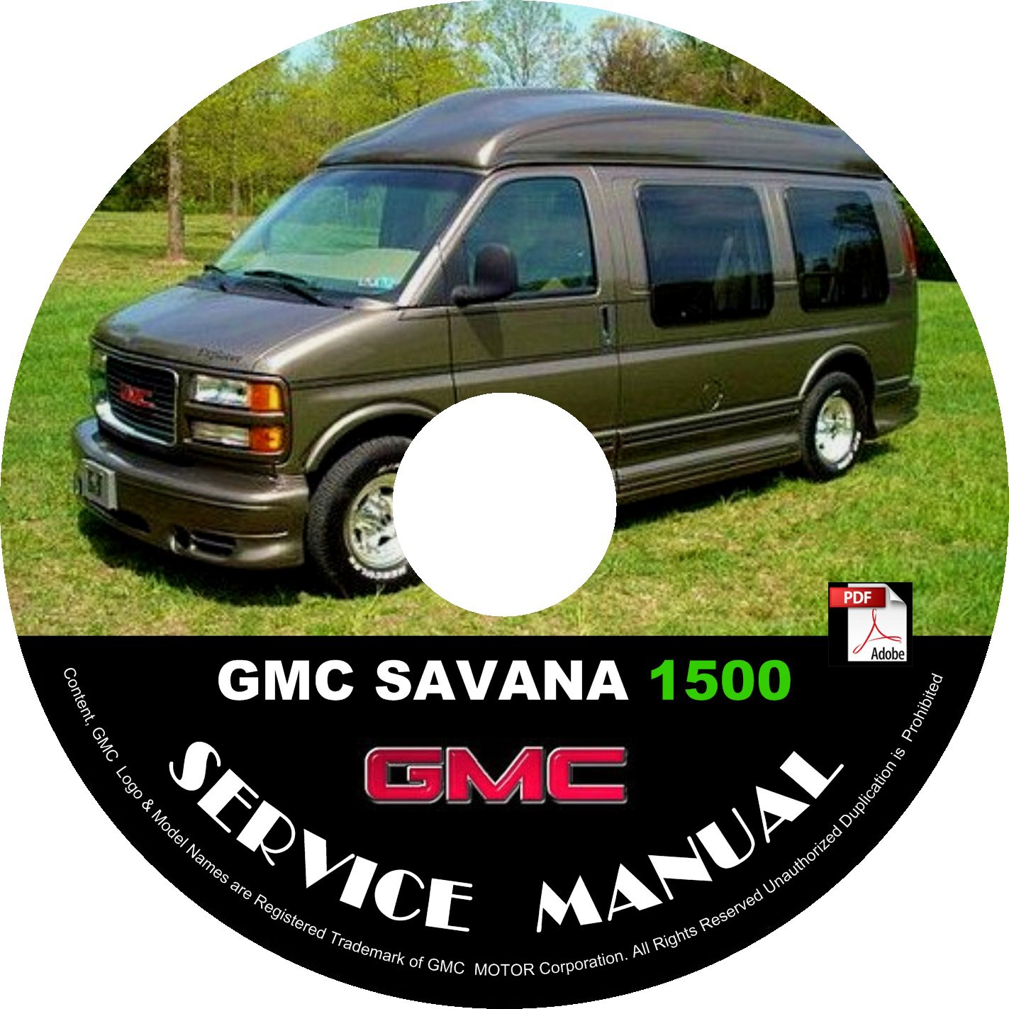 2000 GMC Savana 1500 G1500 Service Repair Shop Manual on CD '00 Fix Repair Rebuild Workshop Guide