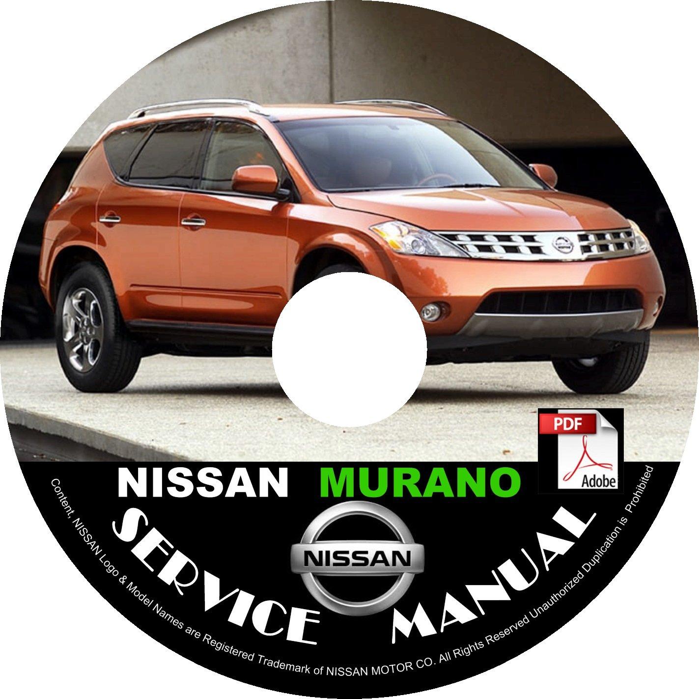 2005 Nissan Murano Service Repair Shop Manual on CD Fix Repair Rebuild '05 Workshop S SL SE LE