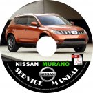 2007 Nissan Murano Service Repair Shop Manual on CD Fix Repair Rebuild '07 Workshop S SL SE LE