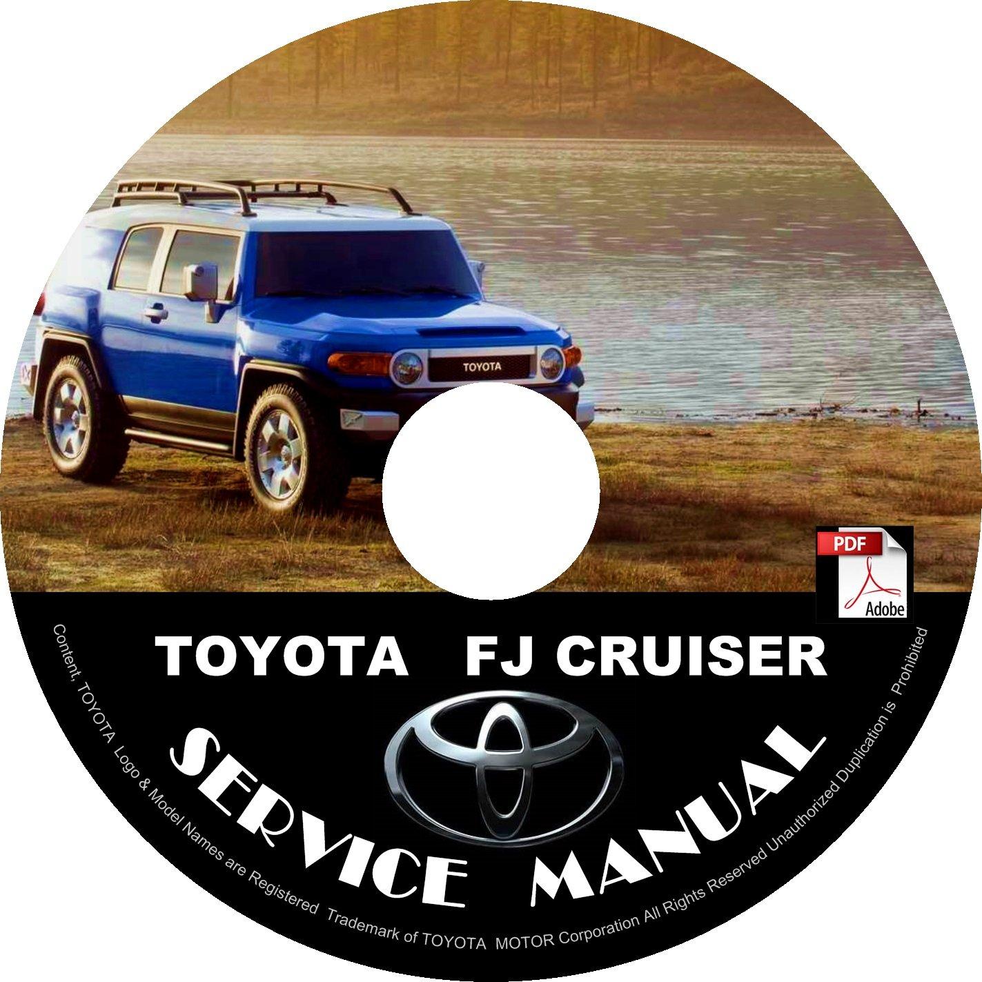 2007 Toyota FJ Cruiser Factory Service Repair Shop Manual on CD Fix Repair Rebuilt 07 Workshop