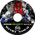 Nissan Engine RB26DETT R32 GT-R Service Manual on CD Rebuild, Repair, Swap